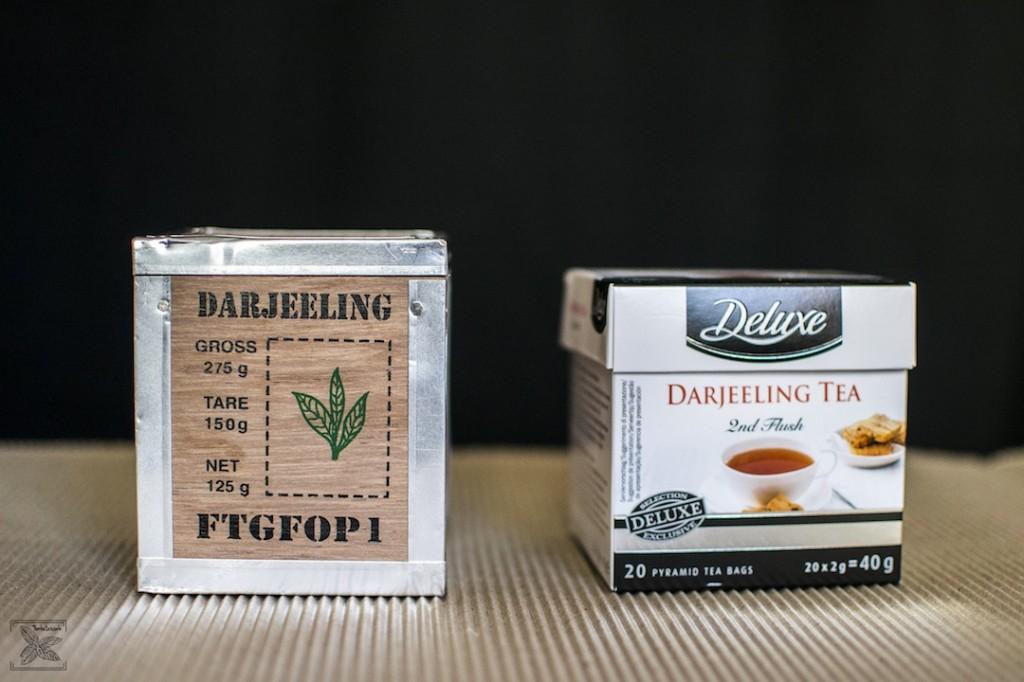Herbaty Darjeeling zakupione w supermarkecie