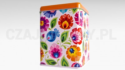 Puszka na herbatę Kolorowe Kwiatki